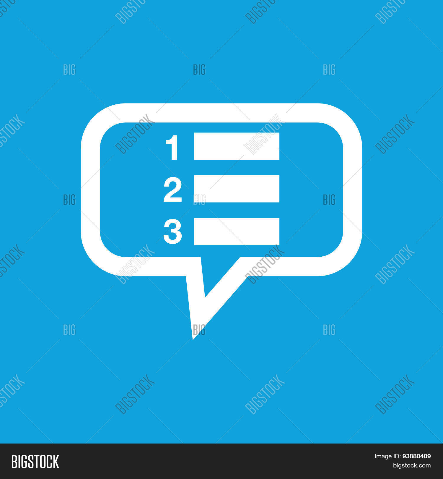 numbered list message vector & photo (free trial) | bigstock