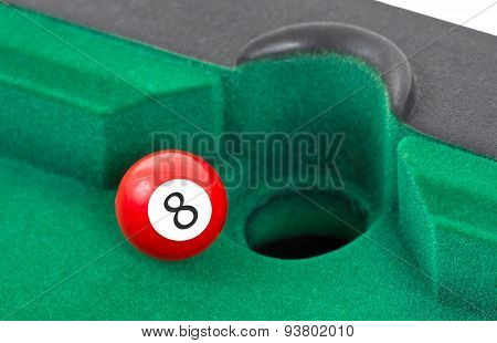 Red Snooker Ball - Number 8