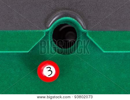 Red Snooker Ball - Number 3