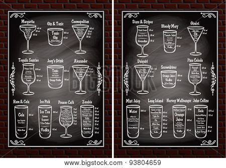 Set Schemes Ingredients For Making Cocktails