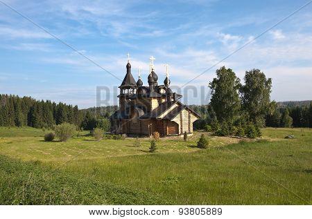 Verkhoturye. Simeonov stone. The Church of All Saints Resplendent in the Siberian Land.