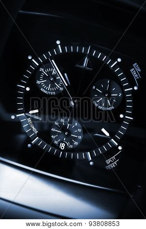 Luxury Mens Chronograph Watch, Macro Photo