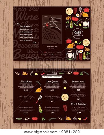 Restaurant Menu Design Pamphlet Template