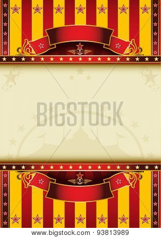 Big circus. A circus poster with a large frame for your message