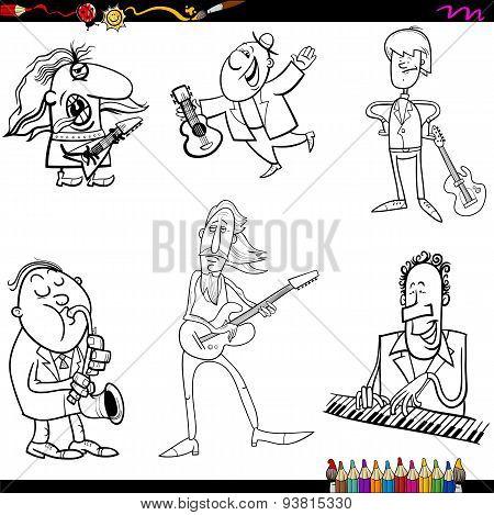 Musicians Cartoon Coloring Page