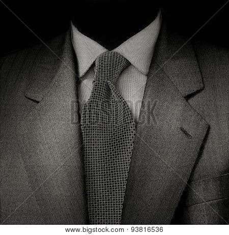 Man's Suit In Black