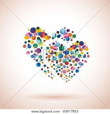 Confetti Double Heart