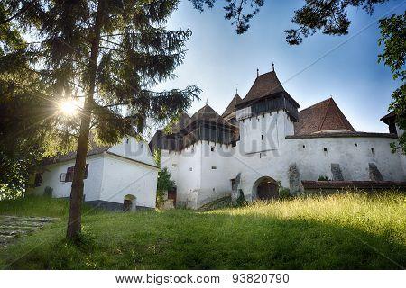 Viscri. Transylvanian medieval village. Fortified evaghelical church