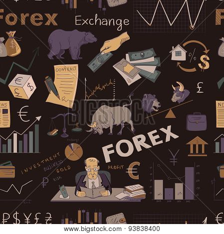 Colored finance forex hand drawing pattern
