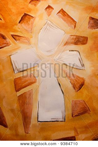 Hand Painted Christian Cross