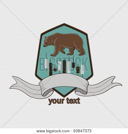 Finance forex Labels Logo