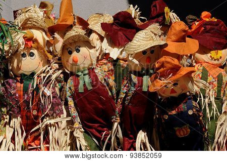 Autumn Scarecrow dolls