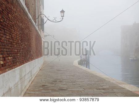 Fog In Venice Near Arsenal