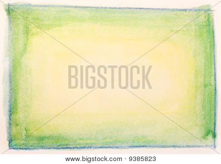 Hand Painted Green Orange Watercolor Texture