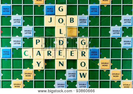 Golden Job Carrer Pay Grow