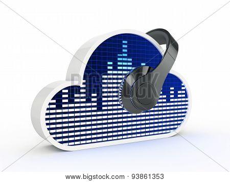 Cloud music concept