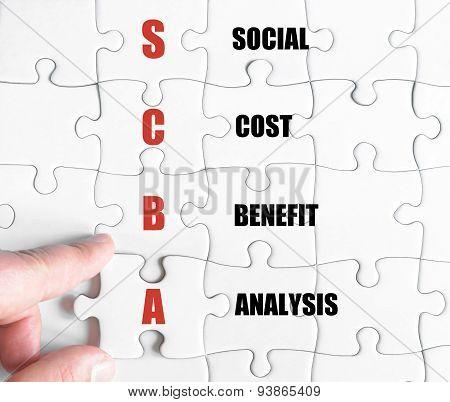 Last Puzzle Piece With Business Acronym Scba