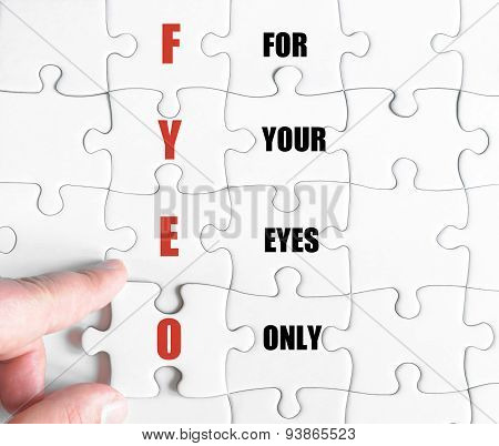 Last Puzzle Piece With Business Acronym Fyeo