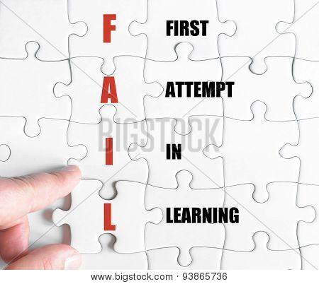 Last Puzzle Piece With Business Acronym Fail