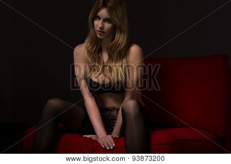Girl With Spread Legs