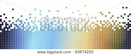 Abstract Colurful Mosaic Background-pixelated In Blue And Brown