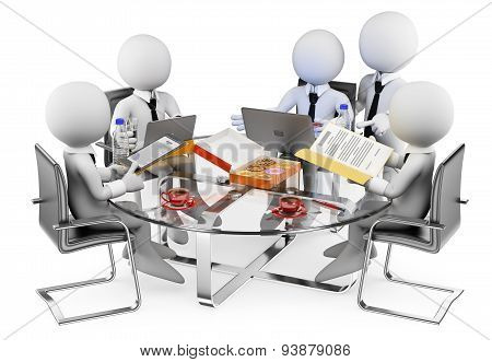 3D White People. Business Informal Meeting