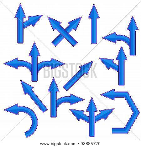 Blue Arrows
