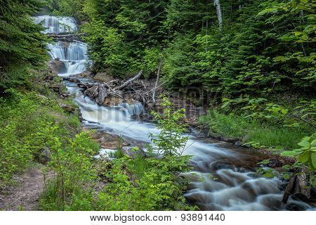 Sable Falls Waterfall - Upper Michigan