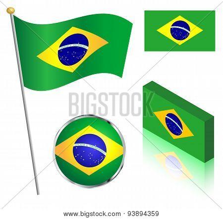 Brazilian Flag Set