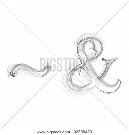 Tilde and Ampersand smoke vector icon