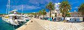 Hvar yachting waterfront panoramic view Dalmatia Croatia poster