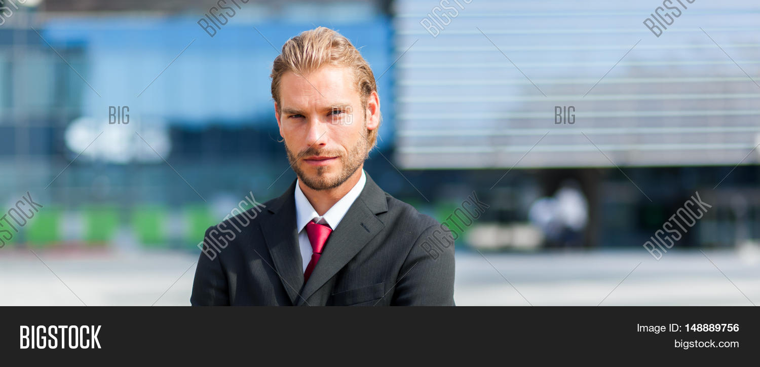 Nordic blond businessman portrait