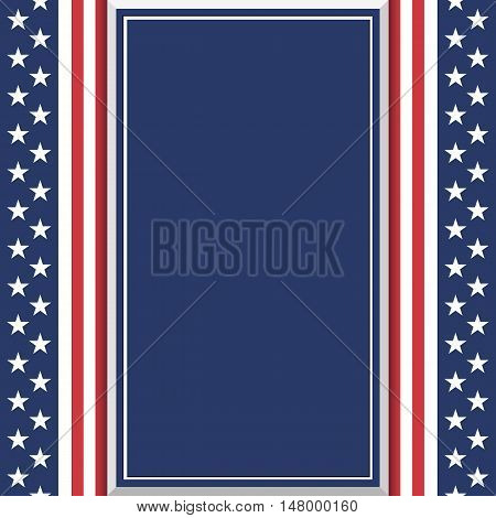 Blank abstract American background. Poster or brochure template. Vector illustration.