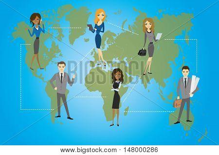 Global Business. Business concept flat design vector illustration