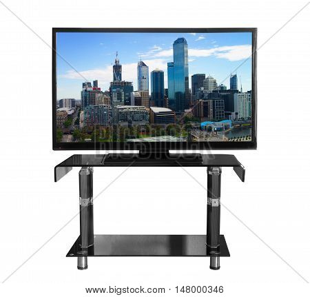 Tv on the stand with the picture