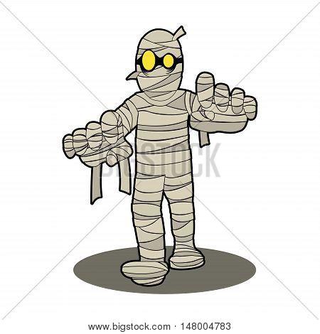 mummy Egypt halloween night spooky cartoon character