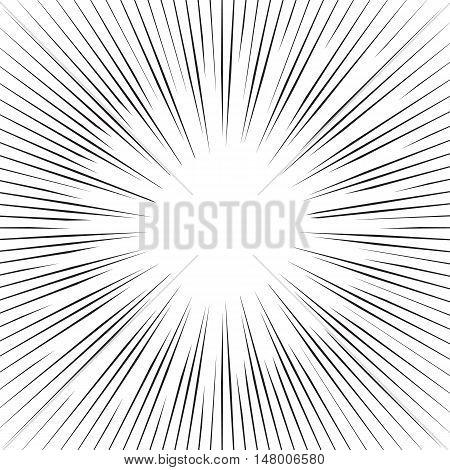 Vector  lines background, background with rays, black and white vector illustration