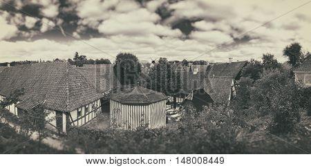 Old Villiage, Den Gamle By,  Denmark - Vintage Look