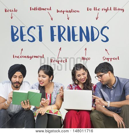 Best Friends Togetherness Harmony Concept