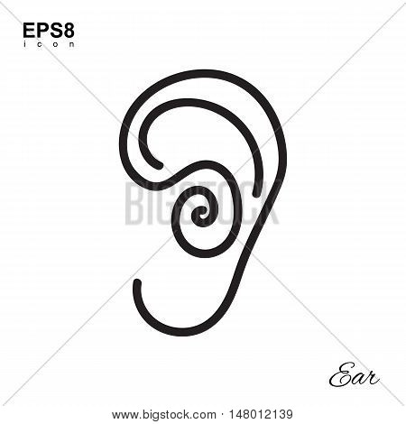 Simple Human Ear Icon