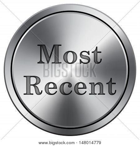 Most Recent Icon. Round Icon Imitating Metal.