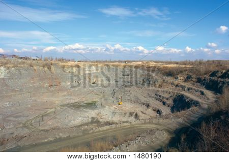 Pit Of A Stone Open-Cast Mine