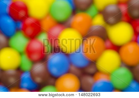 Indistinct Background From Candies