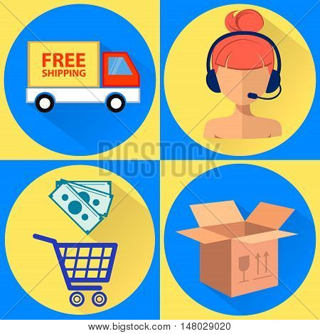 Shopping online, mobile payments, order processing and delivery by road, call center, Sales Consultant