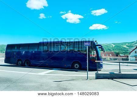 Bus Terminal In Norway
