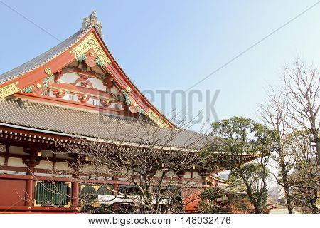 Tokyo famous old sensoji temple in asakusa