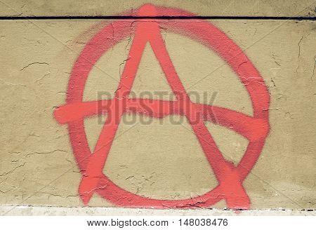 Vintage Looking Anarchy Sign