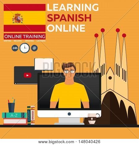 Learning Spanish Online. Online Training. Distance Education. Online Education. Language Courses, Fo