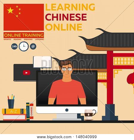Learning Chinese Online. Online Training. Distance Education. Online Education. Language Courses, Fo