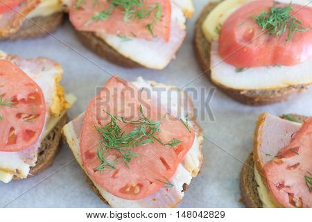 Sandwiches On Paper